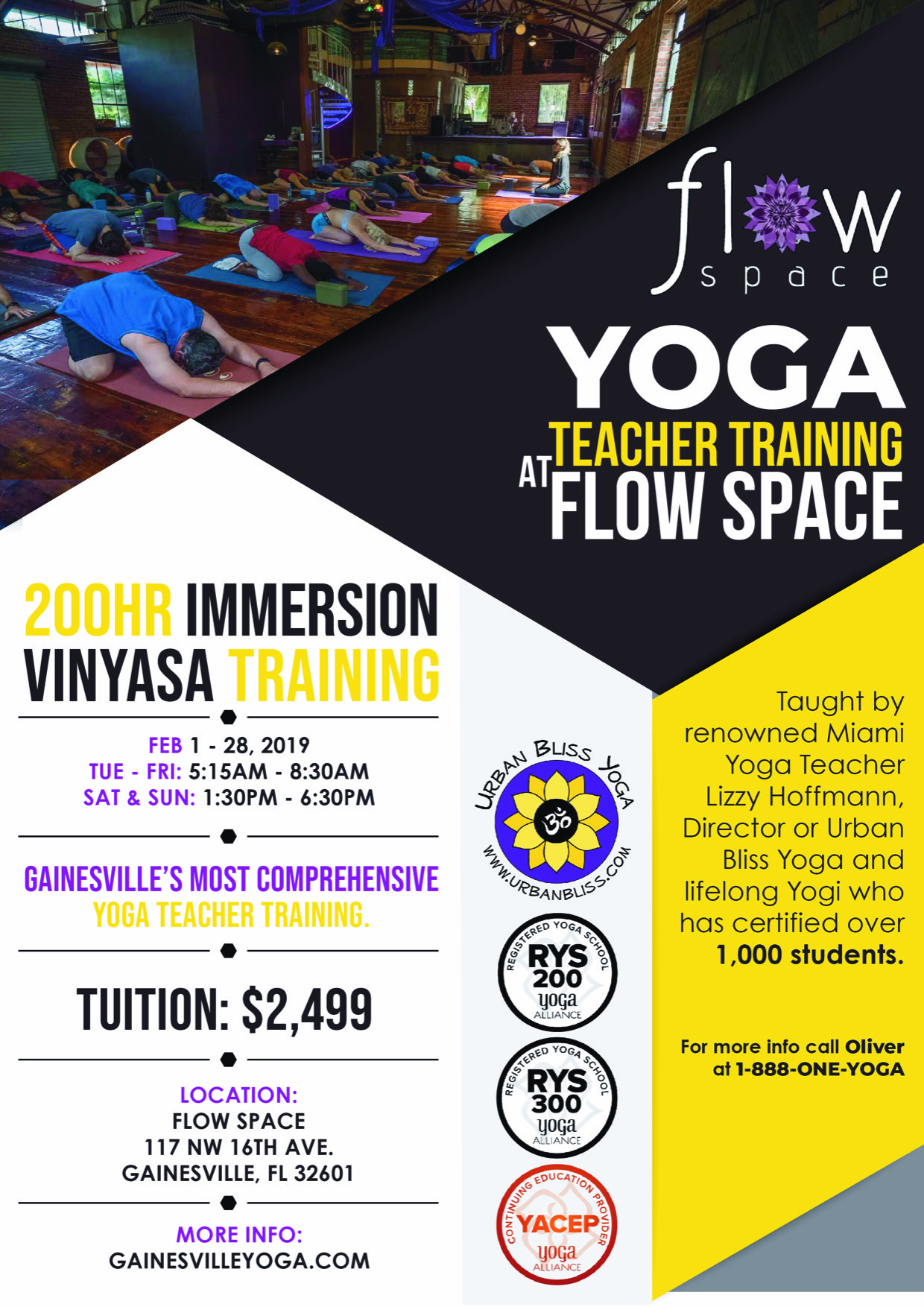 Yoga Alliance Gainesville Yoga Teacher Training